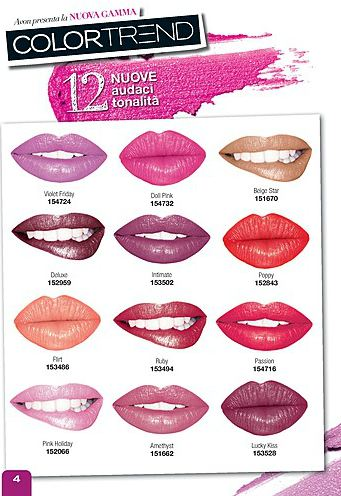 Avon Color Trend lipstick swatches – linea precedente/ old ...