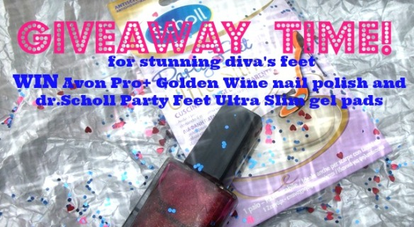 giveaway, Avon Golden Wine, nail polish, win Avon nail polish, dr.Scholl, gel pads, vinci smalto Avon, cuscinetti in gel dr.Scholl