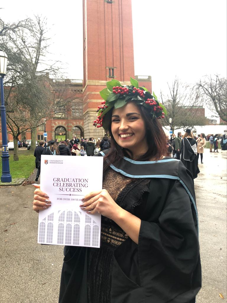 Valentina Chirico class 2019 Egyptology University of Birmingham